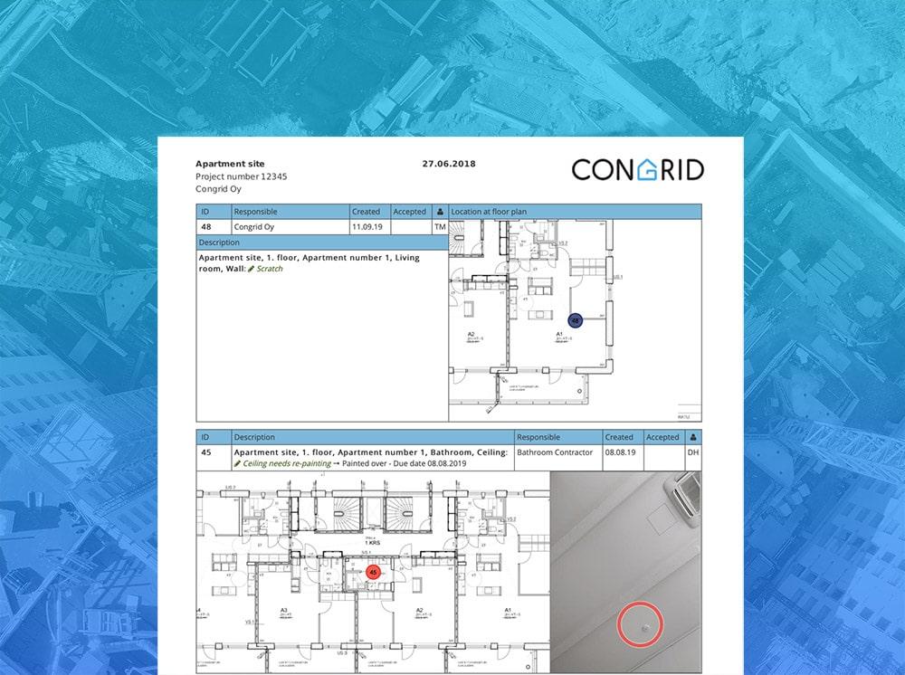Congrid - Report tasklist
